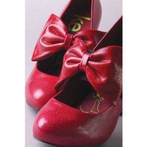 Valentines Day sweetheart red bow pumps heels 8.5